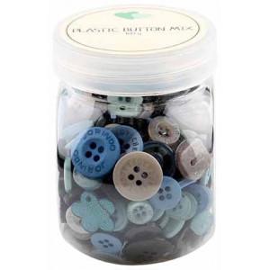 Go handmade Assorterede knapper Grå 100 g