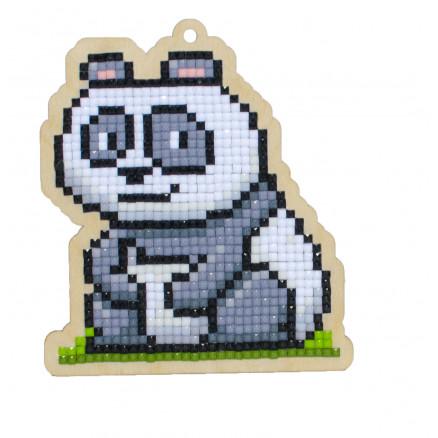 Wizardi Diamond Painting Pakke Panda Chuckie 10x8,8cm thumbnail