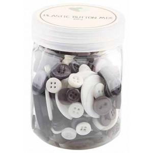 Go handmade Assorterede knapper Grå/Hvid 100 g