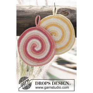 Candy Daze by DROPS Design - Grydelapper Hækleopskrift