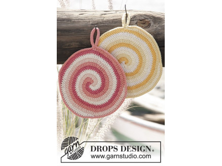 Image of   Candy Daze by DROPS Design - Grydelapper Hækleopskrift
