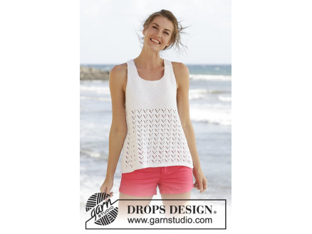 Image of   Holiday Bliss by DROPS Design - Top Strikkeopskrift str. S - XXXL