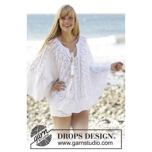 Angelica by DROPS Design - Poncho Strikkeopskrift str. S/M - XXL/XXXL