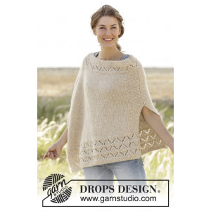 So Classy! by DROPS Design - Poncho Strikkeopskrift str. S/M - XXXL