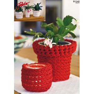 Hoooked Skjuler til urtepotte og fyrfadslys - 3 stk. Skjulere Hæklekit