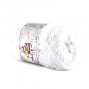 Mayflower Cotton 8/4 Garn 1402 Hvid