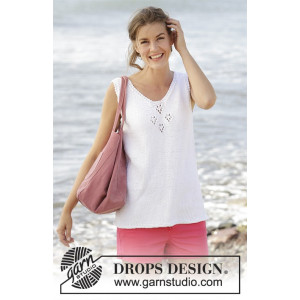 Sunny Day Top by DROPS Design - Top Strikkeopskrift str. S - XXXL