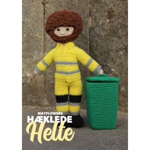 Mayflower Little Bits Hæklede Helte Skraldemand - Dukke Hækleopskrift