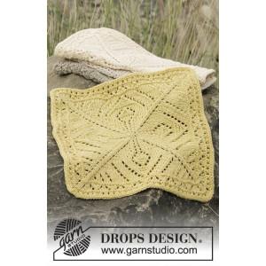 Thistle in Bloom by DROPS Design - Klude Strikkeopskrift 26x26 cm