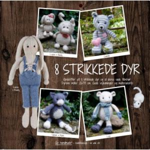 8 strikkede dyr