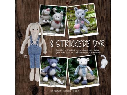 Image of   8 strikkede dyr - Bog fra Go handmade
