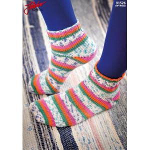 Järbo Tå Op-sokker Med Magic Loop-teknik - Strømper Strikkeopskrift str. 21-45