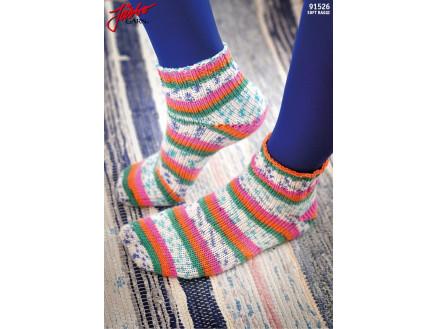 Image of   Järbo Tå Op-sokker Med Magic Loop-teknik - Strømper Strikkeopskrift st