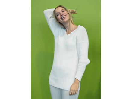 Mayflower Sweater i Rib - Bluse Strikkeopskrift str. S - XXXL