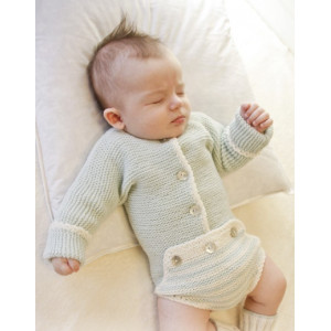 First Impression by DROPS Design - Baby Bodystock Strikkeopskrift str. Præmatur - 3/4 år