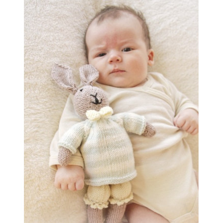 Mr. Bunny by DROPS Design - Baby Bamse Strikkeopskrift