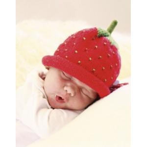 Sweet Strawberry by DROPS Design - Baby Hue Strikkeopskrift str. 1/3 mdr - 3/4 år