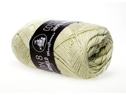 Image of   Mayflower Cotton 8/4 Garn Unicolor 1496 Støvet Lime
