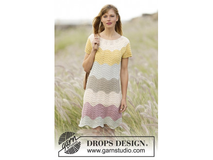 cda79b709456 Making Waves by DROPS Design - Kjole Strikkeopskrift str. S M - XXL ...