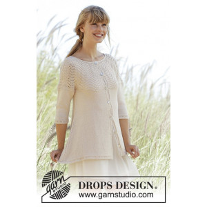 Dune Cardigan by DROPS Design - Jakke Strikkeopskrift str. S - XXXL