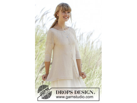 Image of   Dune Cardigan by DROPS Design - Jakke Strikkeopskrift str. S - XXXL