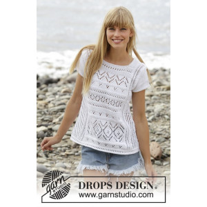 Erica Top by DROPS Design - Top Strikkeopskrift str. S - XXXL