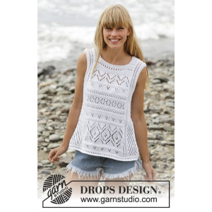 Erica Singlet by DROPS Design - Top Strikkeopskrift str. S - XXXL