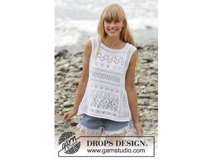 Image of   Erica Singlet by DROPS Design - Top Strikkeopskrift str. S - XXXL