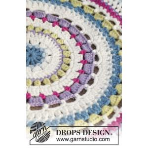 Color Wheel by DROPS Design - Gulvtæppe Hækleopskrift 94 cm