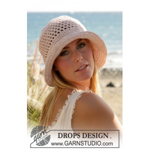 Seaside by DROPS Design - Hat Hæklekit str. S/M-L
