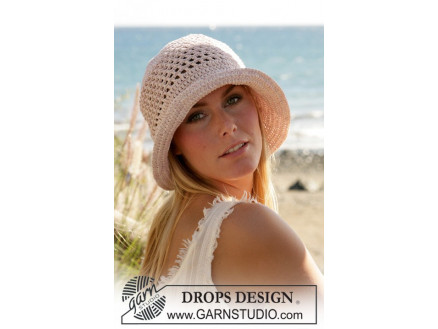 Image of   Seaside by DROPS Design - Hat Hækleopskrift str. S/M-L