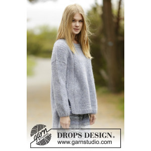Sigrid by DROPS Design - Bluse Strikkeopskrift str. S - XXXL