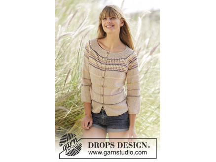 Image of   Freja Cardigan by DROPS Design - Jakke Strikkeopskrift str. S - XXXL