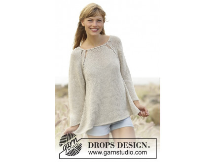 Image of   Everyday Comfort by DROPS Design - Bluse Strikkeopskrift str. S - XXXL