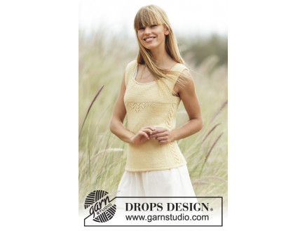 Image of   Fresh Lemonade by DROPS Design - Top Strikkeopskrift str. XS - XXL