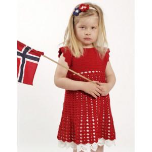 Princess Matilde by DROPS Design - Kjole og Hårbånd Hækleopskrift str. 2 år - 9/10 år