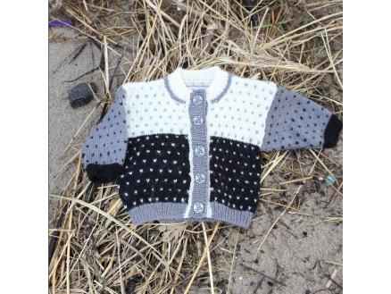 Image of   Mayflower Babytrøje med Lus - Bluse Strikkeopskrift str. 1 mdr - 4 år
