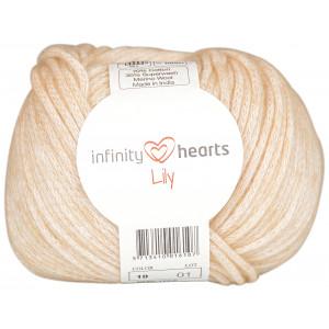 Infinity Hearts Lily Garn 10 Creme