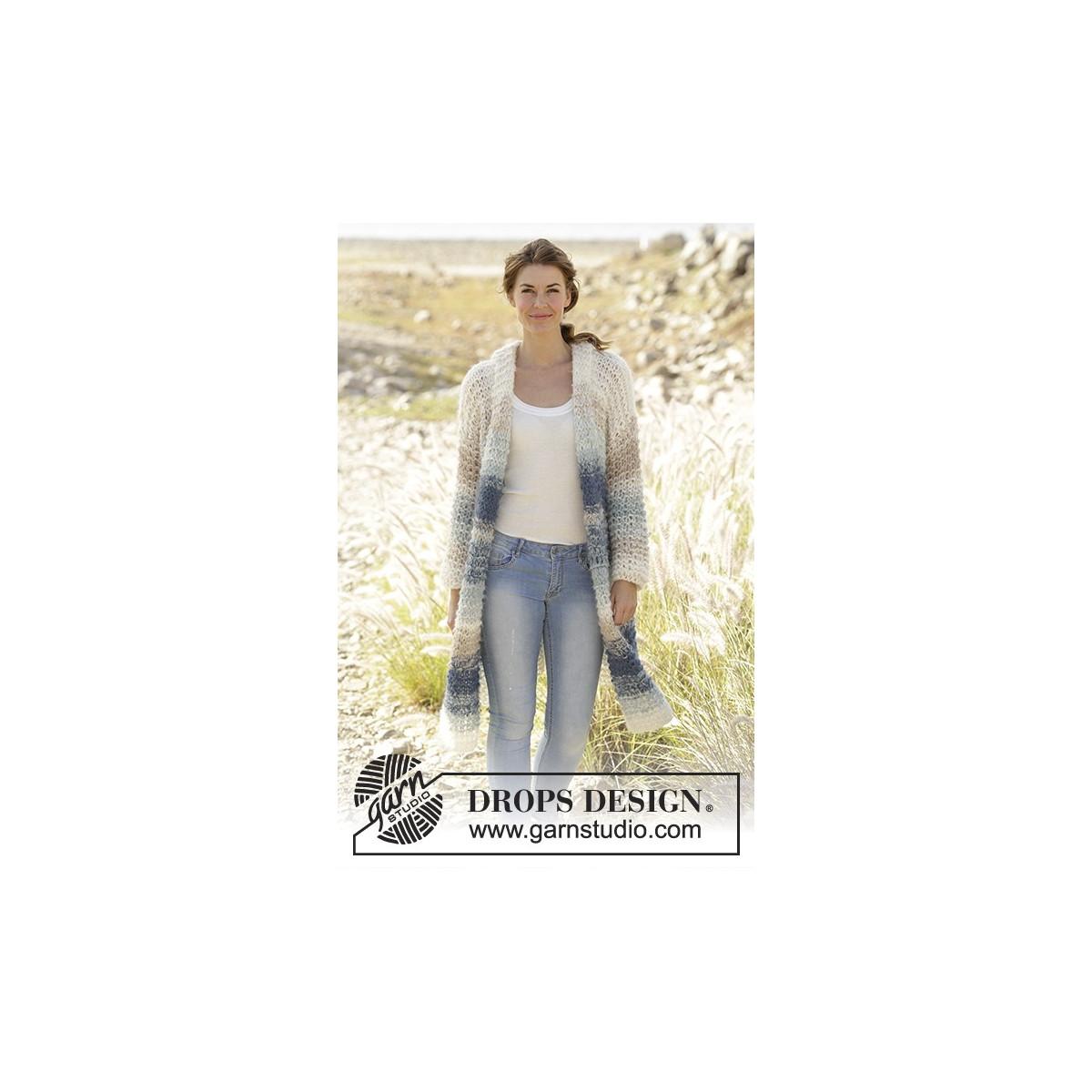 Birch Woods Jacket DROPS 202 12 Gratis strikkeopskrifter