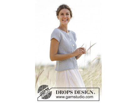 Image of   Charlotte Cardigan by DROPS Design - Cardigan Strikkeopskrift str. S -