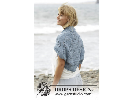 Image of   Beach Bolero by DROPS Design - Bolero Strikkeopskrift str. S/M - XXXL