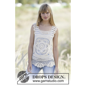 Elvira by DROPS Design - Top Hæklekit str. XS/S - XL/XXL
