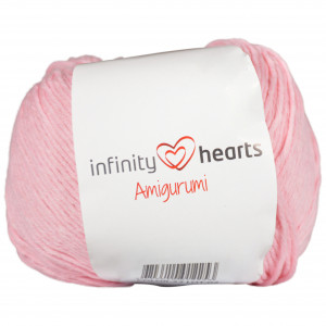 Infinity Hearts Amigurumi Garn 22 Lyserød