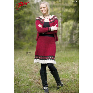 Ístex nederdel med Flæse - Strikkeopskrift str. 34 - 44