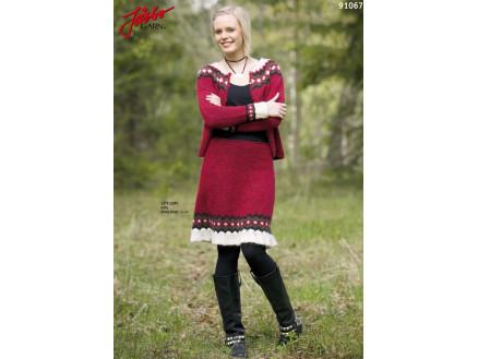 Image of   Ístex nederdel med Flæse - Strikkeopskrift str. 34 - 44