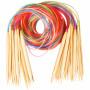 Infinity Hearts Rundpindesæt Bambus Natur/Print 120cm 2-10mm - 18 størrelser