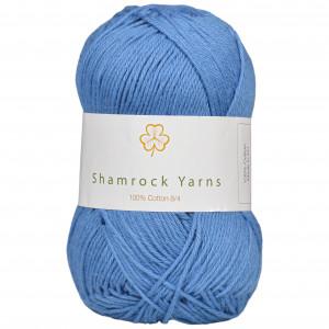 Shamrock Yarns 100% Bomuld 8/4 Garn 10 Støvet Lys Jeansblå
