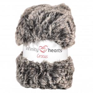 Infinity Hearts Crocus Pelsgarn 81 Koksgrå/Grå