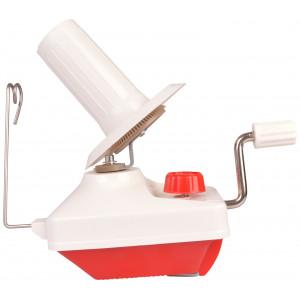 Infinity Hearts Krydsnøgleapparat til Garn Rød/Hvid 20x9,5x20cm