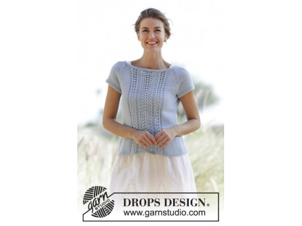 Image of   Charlotte by DROPS Design - Top Strikkeopskrift str. S - XXXL